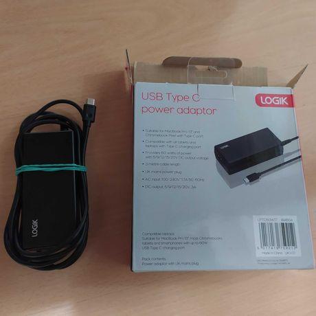 Carregador Original Logik USB-C, Compatível com MacBook Pro 13, etc