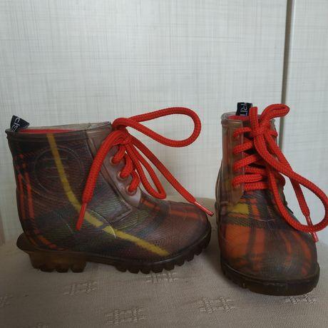 Резиновые ботинки сапожки с тёплым носком 13 см
