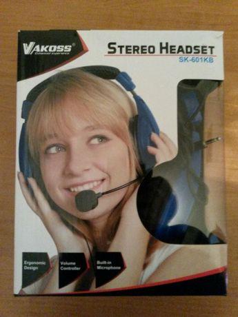 Nowe słuchawki z mikrofonem Vakoss