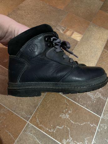 Зимние ботинки кожаные на мальчика 32 размер