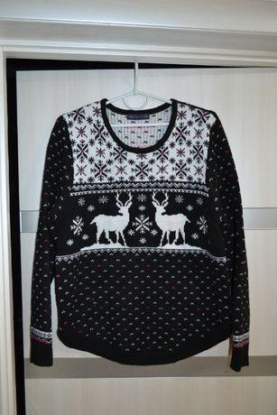 свитер джемпер новогодний M&S 16-18 UK р. 52-54 XL