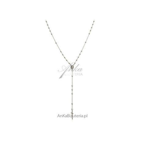 ankabizuteria.pl Naszyjnik srebrny różaniec - 60cm oraz 55 cm