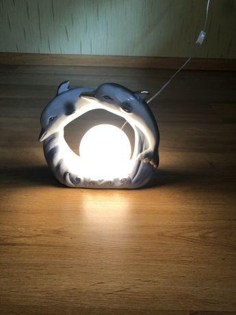 Lampka nocna delfinki