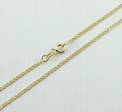 złoty łańcuszek PANCERKA ZŁOTO pr.585 50cm KUTY