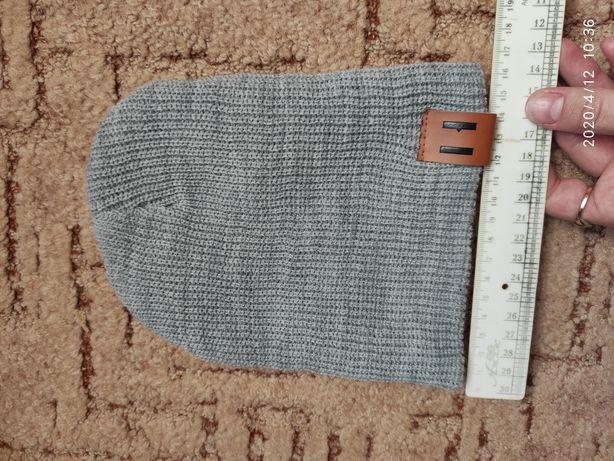 Набор шапка и снуд шарф хомут серый весна осень 1-2 года