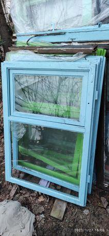 Drewniane okna po demontazu Kramsk