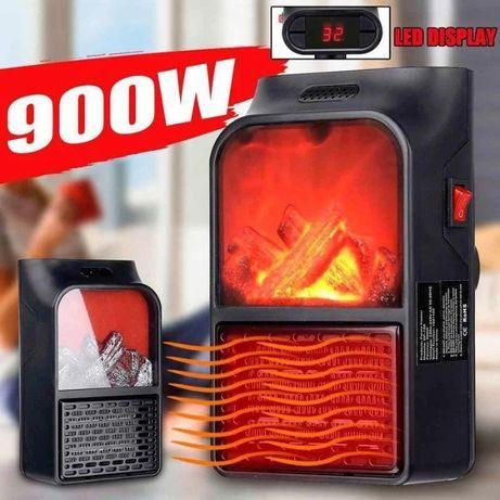 Обогреватель камин дуйка тепловентилятор с пультом FLAME HEATER 900 Вт