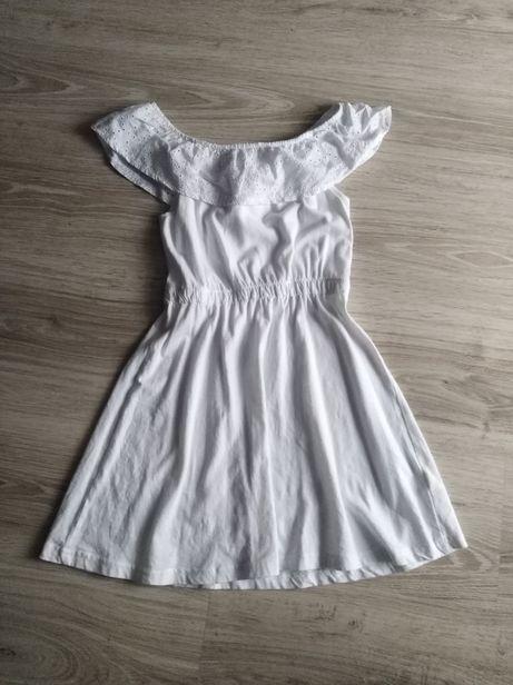 Bielutka sukienka hiszpanka r. 140 bawełniana