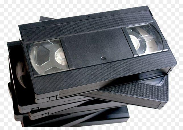 Passagem de cassetes de vídeo para formato digital