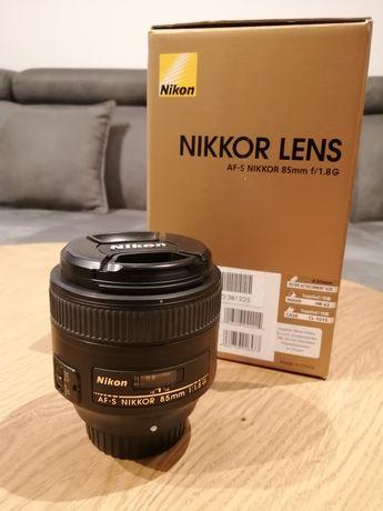 Jak nowy! Obiektyw Nikon Nikkor 85mm 1.8G