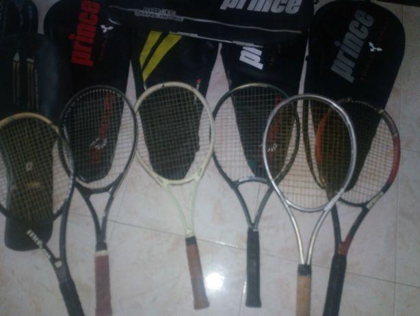 Raquetes e capas de ténis