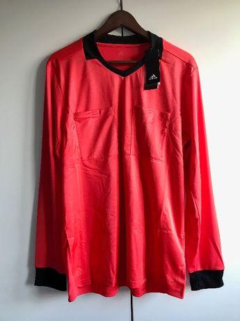ADIDAS koszulka sędziowska, czerwony, dł. rękaw, L