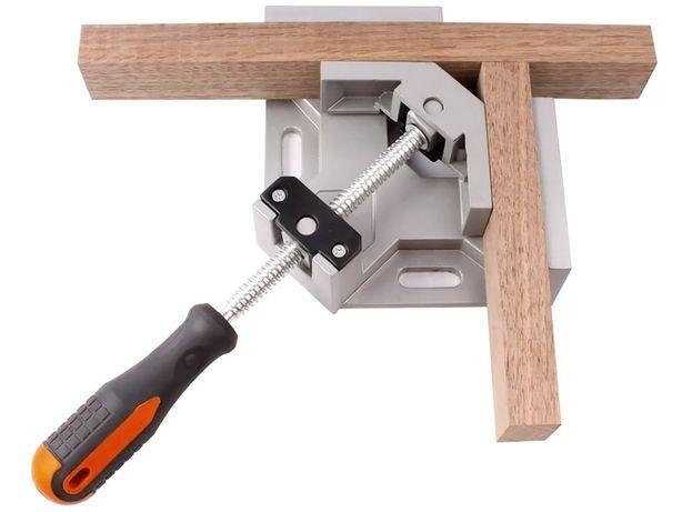 Ścisk stolarski – śrubowy, zacisk kątowy