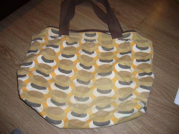Brązowo-żółta torebka na ramię