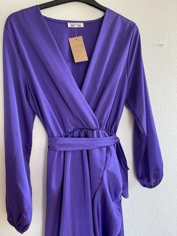 Vestido Midi - Roxo/Lilás