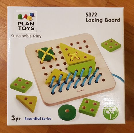 Drewniana przeplatanka sznurowanka Plan Toys