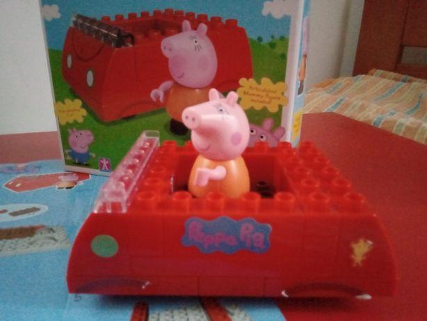 Конструктор совместимый с lego duplo свинка Пеппа peppa pig Family car