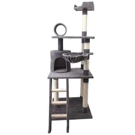 Oferta de Envio! Arranhador para gato Porto Cinza 59 x 59 x 156 cm