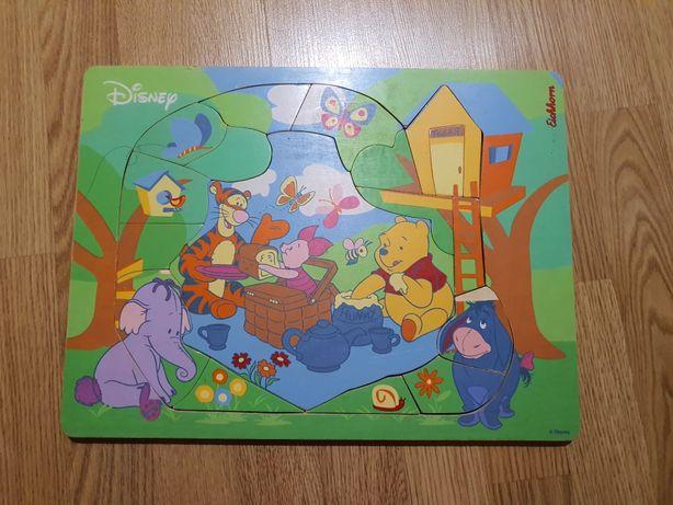 Eichhorn puzzle drewniane x 2 Disney Kubuś Puchatek 3+