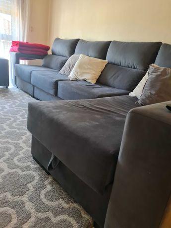 Sofá 3mtr com chaise long elevatório