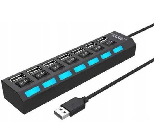 Rozdzielacz portów USB HUB 7-portowy Wysyłka