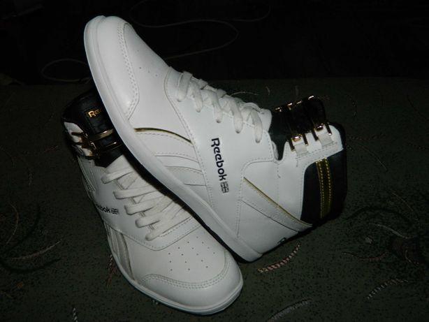 Кроссовки кожаные Reebok оригинал фирменные размер-38 стелька-24,5 см