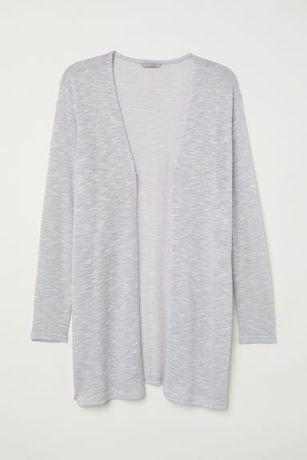 Кардиган серый H&M кофта тонкая накидка женская Zara mango