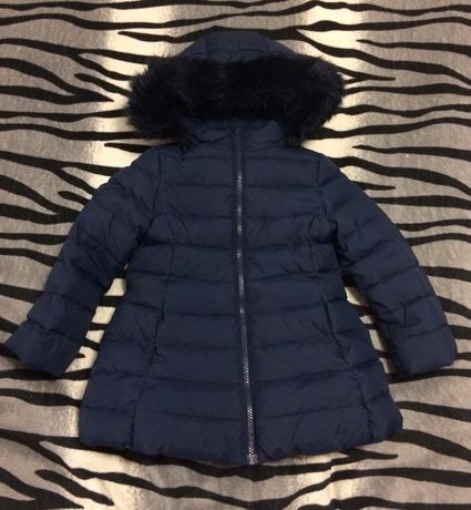 Benetton пальто пуховик куртка зимняя р 92/98