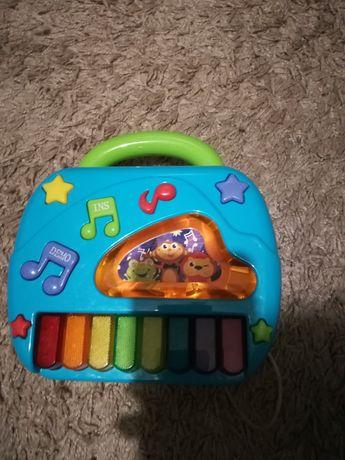 Grająca zabawka 2w1 pianinko i telefon