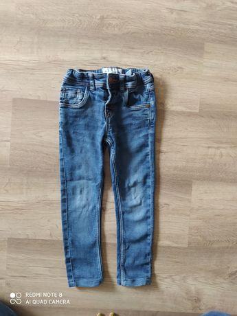 spodnie rurki jeansowe dla chłopca rozmiar 110-116