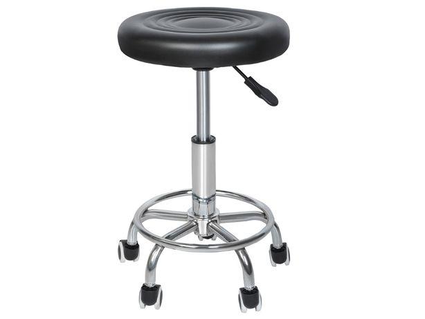 Stołek FRYZJERSKI kosmetyczny krzesło HOKER czarny Nowy wysyłka