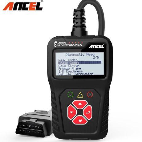 Диагностический сканер OBD2 ANCEL AS100 (русский язык)