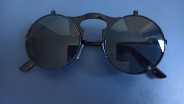 Круглые солнцезащитные очки с откидными линзами