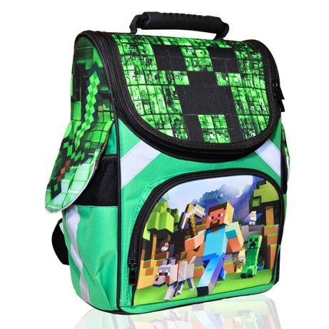 Minecraft Майнкрафт ранец каркасный рюкзак ортопедический 3Д Принт