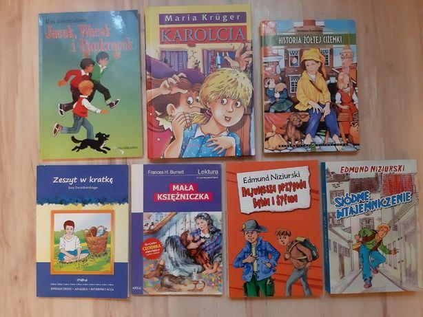 Lektury szkolne - Zeszyt w kratkę, Karolcia + książki Niziurskiego