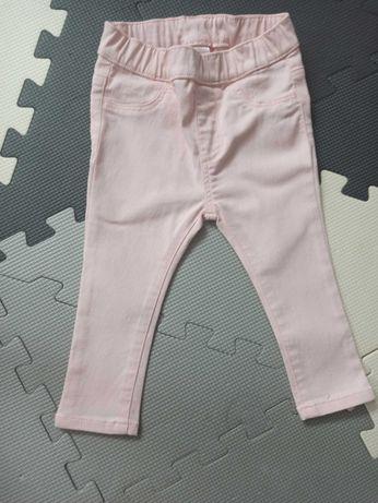Spodnie jeansowe różowe h&m
