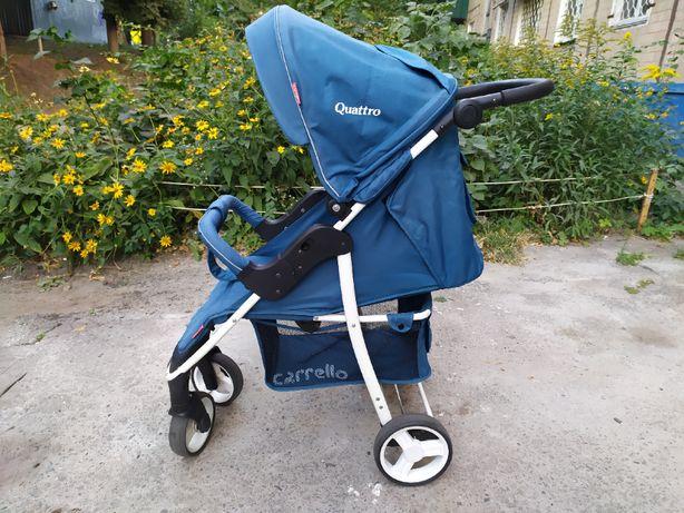 Коляска Carrello Quattro голубая