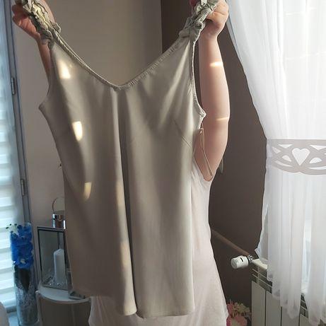 Bluzka  na ramiączkach w kolorze szarym nowa