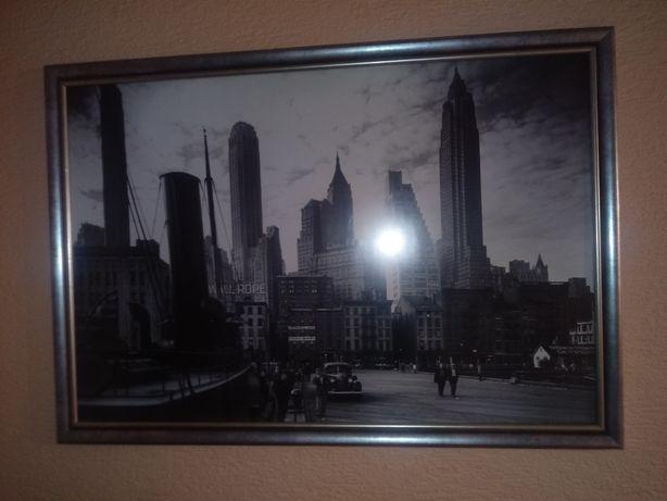 Obraz czrno biały New York
