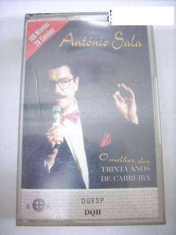 """Cassete original """"O Melhor dos 30 de Carreira"""" de António Sala"""