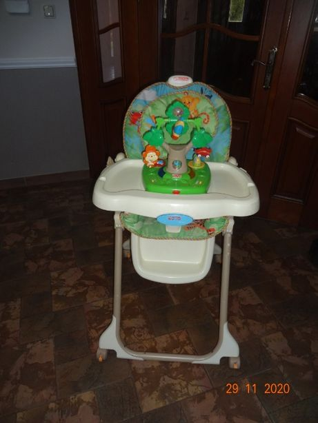 Fisher Price krzesełko do karmienia z zabawką Reinforest