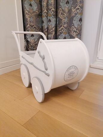 Drewniany wózek dla lalek Wooden Story Toys