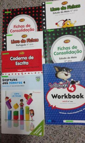 Livro Fichas TOP 1, 2, Alfa 3 Ano.