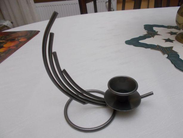 Świecznik metalowy stalowy metaloplastyka moderny WYSYŁKA