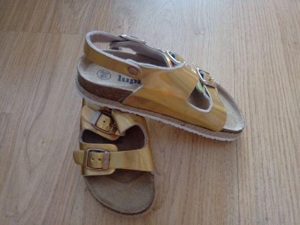 Złote sandałki na korku Lupilu, rozm. 30 - nowe i nieużywane