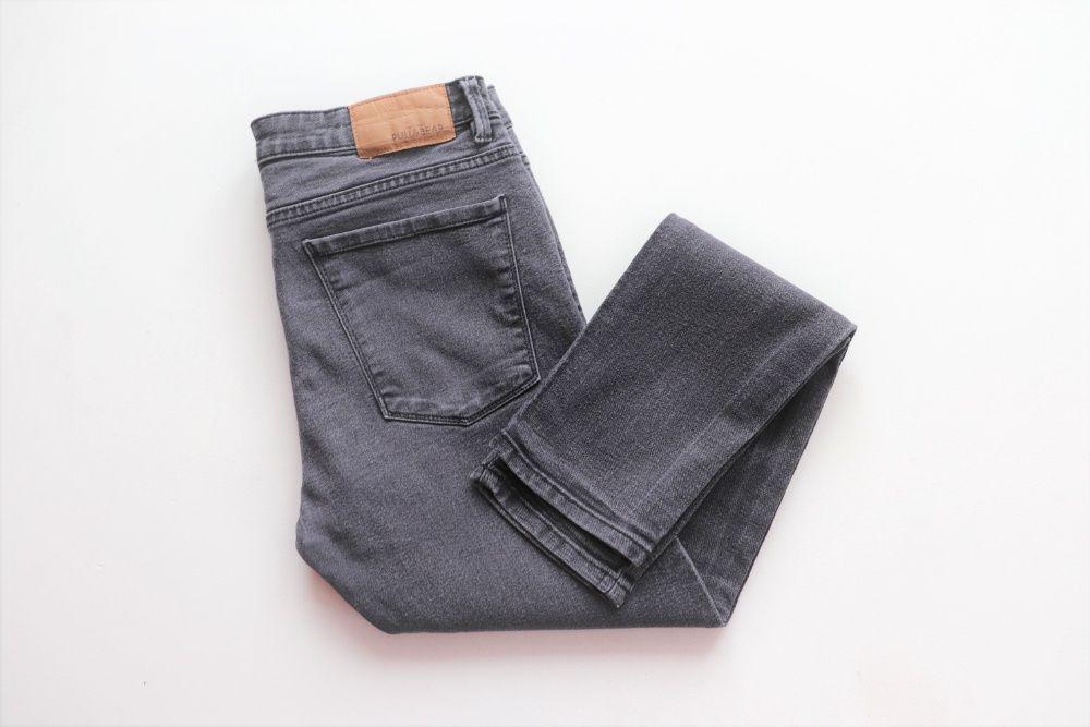 Męskie spodnie jeansy PULL&BEAR W34 L32 super skinny slim fit Węgierska Górka - image 1