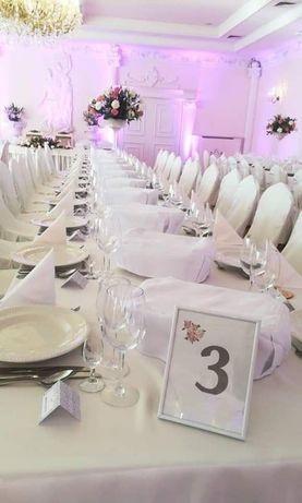 Ramki na stół weselny