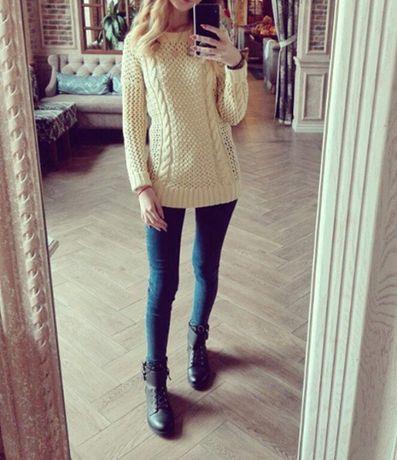 Стильный хлопковый свитер