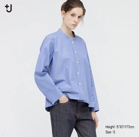 Идеальная рубашка в полоску Uniqlo +Jil Sanders, S