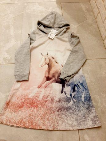 Sukienka dresowa nowa h&m 122 128